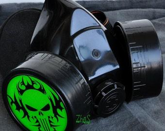 Cyber Mask Cyber Goth Respirator Black  Gas Mask  BIOHAZARD  Skull