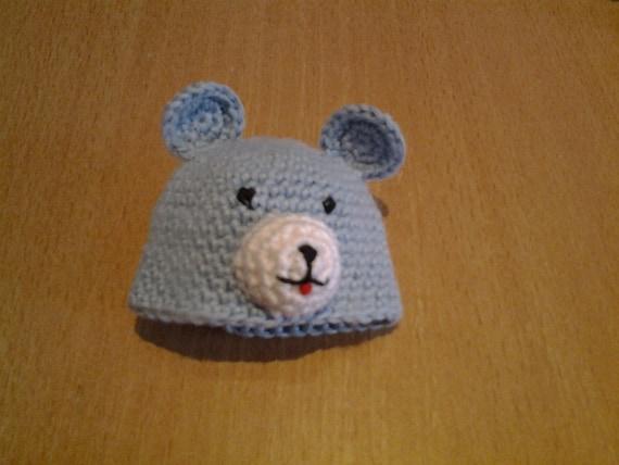 amigurumi crochet bear hat for 7 inch mini baby by ...