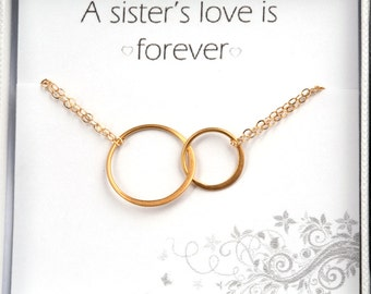 Gold eternity bracelet,Best friends Bracelet,Karma Bracelet,Halo Bracelet,sister circle bracelet,Bridesmaid Gifts