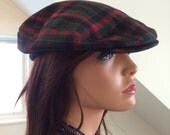 Pendleton Plaid Wool Plaid Cap Newsboy Cabbie Style Men's Hat