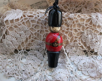 Toy Soldier Christmas Tree Decoration ~ Handturned and Handpainted