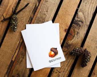 Acorner Notecard (greeting card, blank interior for thank you, get well, thinking of you, friendship, encouragement, anytime)