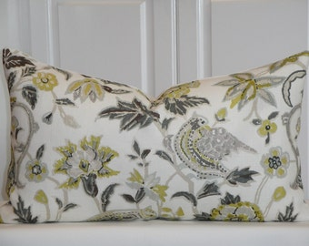 Schumacher CAMBERWELL VASE In CITRINE - 14 x 24 - Decorative Pillow cover - Lumbar Pillow - High End Pillow