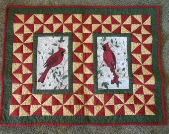 SRPING CLEANING SALE - Cardinal Quilted Wall Hanging