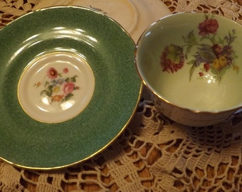 Bone China Teacup and Saucer From England