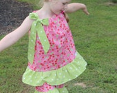 Cherry Picking 2 Piece Romper - Size 5/6 - READY TO SHIP