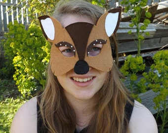 Fawn Mask, Deer Mask, Deer Costume, Fawn costume, Animal Mask, Woodland Animal, Kids Dressing Up, Woodland Party, Woodland Fancy Dress