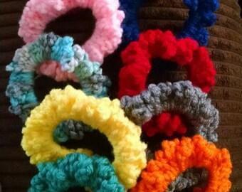 Crochet scrunchies (set of 2) you choose color