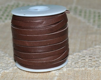 2 Yards 5mm Cord Deerskin Leather 3/16-inch Soft Chocolate Brown Deer Lace