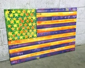 American Flag No. 26 Large Pop Art Painting on Canvas 24 x 36