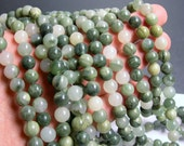 Green line quartz - 8mm (8.1mm) round beads -1 full strand - 47 beads - A quality - RFG184