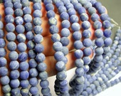 Sodalite matte - 8 mm round beads -1 full strand - 48 beads - A quality - RFG201