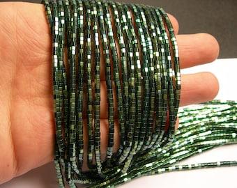 Hematite aqua green - 3mm hexagon  beads -1 full strand - 184 beads - AA quality - 3x2mm - PHG158