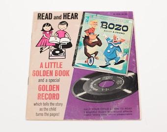 Bozo The Clown Finds a Friend Little Golden Book & Record Set, 00169
