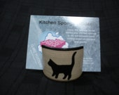 Kitchen Sponge Holder with Cat