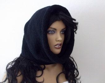 Black hood style cowl