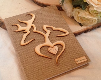 Buck and Doe Country, Rustic or Barn wedding guest book