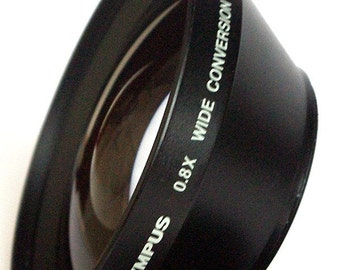 Professional Olympus 0.8X Wide Conversion Lens. Made in Japan. M55.