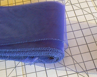 6 inch cobalt horsehair - blue crinoline - hatmaking horsehair