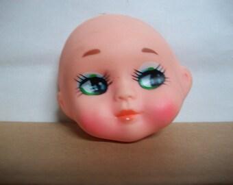 Vintage Oriental Soft Plastic Big Eye Doll Face Mask