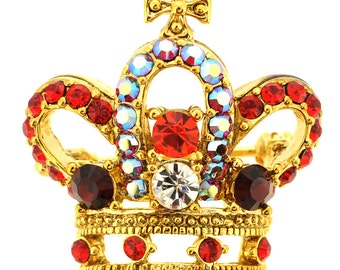 Ruby Golden Crown Brooch 1012991