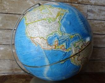 Vintage World Globe Rand McNally International Globe