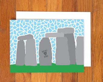 Love Card - Stonehenge Greeting Card - Valentine's Day Card - Anniversary Card