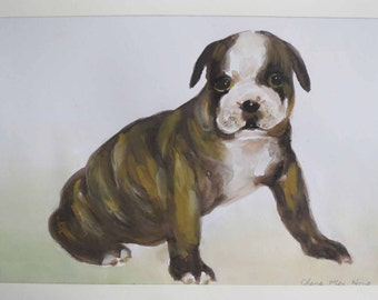 Original Watercolor Painting-Animal-A Dog
