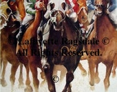 By A Length and Half Horse Racing Print Lafayette Ragsdale