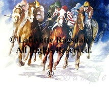 Leader Of The Pack Horse Racing Print Lafayette Ragsdale