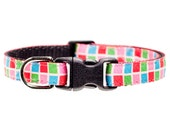 "Cat Collar  - ""The Chatterbox"" - Multicolored Boxes"