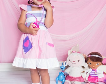 Custom Boutique Clothing  Doc McStuffins Applique  Sassy Girl Dress