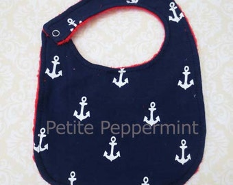 Baby bib,Nautical baby bib,baby girl bib,baby boy bib
