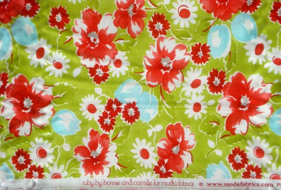 Uber SALE : Ruby Swoon green Bonnie & Camille moda fabric FQ or more