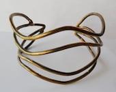 Wave Design Brass Cuff Bracelet