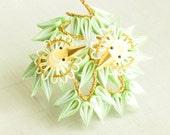 Take ni suzume - Sparrow in bamboo Japanese kanzashi pin