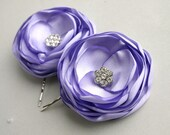 Lavender Flowers For Hair, Bridal Hair Accesories, Lavender Flower girl Hair Pieces, Lilac Flower Hair Clips, Purple Wedding Accessory,