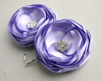 Lavender Bridesmaid Wedding Hairpieces, Purple Flower Girl Hair Pieces, Light Purple Bridesmaid Flower Hair Pins, Wedding Accessories