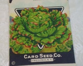 Card Seed Company, Lettuce seed packet, 1920's unused, Prizehead