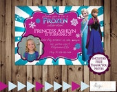 Printable FROZEN Birthday Party Invitation -- Digital File -- 24 hour or less turnaround
