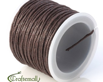 SALE 50% OFF: Saddle brown waxed cotton cord - 1mm waxed cotton cord - 1 roll (25meters) YC-D002-08