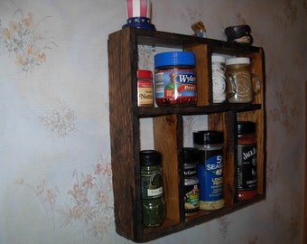 country kitchen seasoning rack