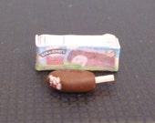 Miniature Dollhouse Chocolate Covered Ice Cream Bar Cherry Garcia