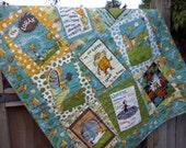 The Lorax Baby Quilt Organic Cotton Earth Tones, Seuss Nursery, Gender Neutral Baby Quilt, Dr Seuss Quilt, Toddler Quilt
