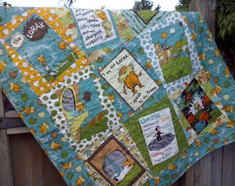 The Lorax Baby Quilt Organic Cotton Earth Tones