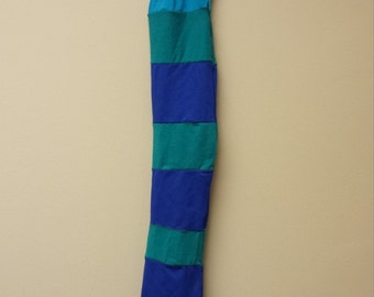 Patchwork Tail Bag Horse Tail Wrap Colorful Green Turquoise Blue Upcycled Elf Bag