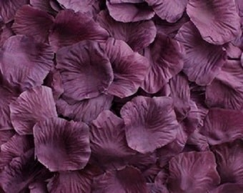 Silk Rose Petals PLUM 500 Wedding Decoration Flower Girl Reception Table