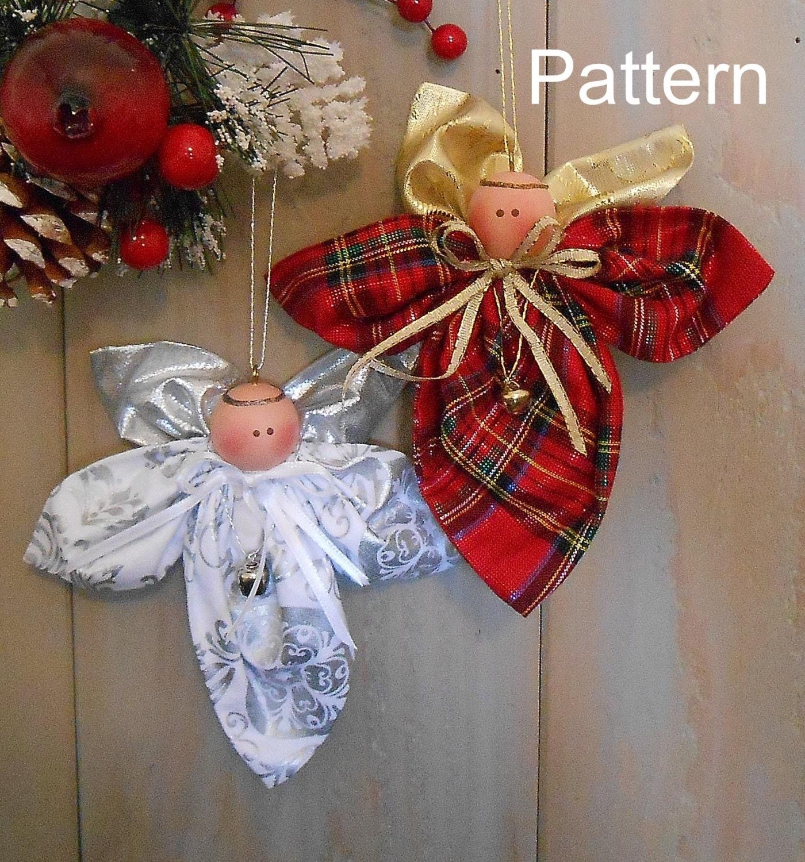 PDF E-Pattern Christmas Angel Ornament 92 Primitive Raggedy