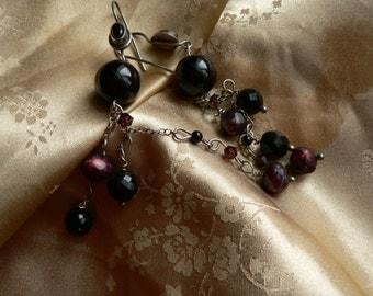 Onyx Gemstone Sterling Silver Handmade Earrings