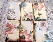 NAPM1310E  Polish Cotton Vintage Fabric Napkin Set, Floral